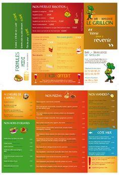 Création d'un dépliant pour restaurant - Le Grillon Brasserie