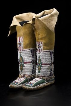 Woman's Leggings and Moccasins - Northern Cheyenne