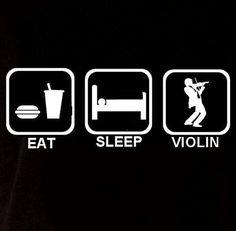 Eat Sleep Violin Play Music Long Sleeve Unisex Men Womens Sweatshirt Sweater T Shirt T-shirt Humor Funny Fun Gift Present Cool Geek Crazy on Etsy, $17.90