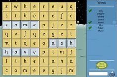 Word Search - Make Your Own Template: A configurable Word Search to play with your own list of words.