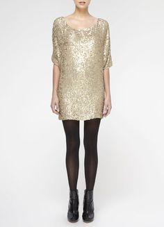 LOVE this matte sequin dress