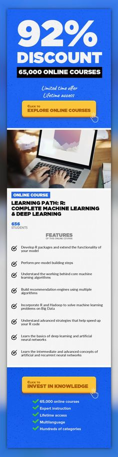 Learning Path: R: Complete Machine Learning & Deep Learning Databases, Development  Unleash the true potential of R to unlock the hidden layers of data Are you looking to gain in-depth knowledge of machine learning and deep learning? If yes, then this Learning Path just right for you. Packt's Video Learning Paths are a series of individual video products put together in a logical and stepwise ma...