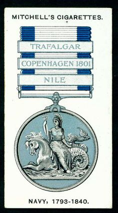 Cigarette Card - Navy Medal