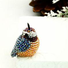 Hummingbird ornament beaded clip on bird christmas ornament holiday