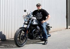 Doc Jensen and the customized MOTO GUZZI V9-Classic