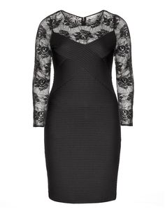 I love this plus size LBD. The ribbed bodice creates a slimmer silhouette.