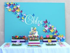 Happy Friday Everyone!  I am really delighted to share this bright and beautiful butterfly party styled by my dear friend Jill for her daughter's birthday.  Jill is truly one of the most creative and talented people you would ever meet.  She has such great design and color skills and she uses those to create the most fabulous parties for her sweet little ones. I am