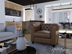 Čierny strop v hlavnej úlohe - Kristína Bedečová Living Room Kitchen, Entryway Bench, Recliner, Lounge, Couch, Chair, Furniture, Home Decor, Entry Bench