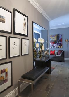 Layered Art for dramatic impact in the Foyer