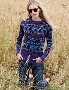 "Oh my damn. I am really digging this sweater! ""J.Crew Collection stained glass cashmere sweater."""