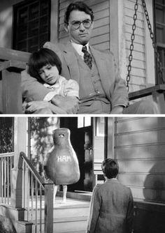 gregory peck | scout & atticus. to kill a mockingbird, 1962.