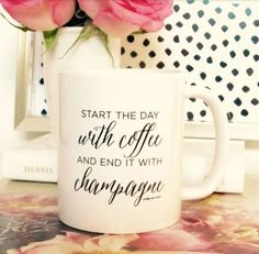 Start The Day With Coffee and End It With Champagne! Follow Pretty Chic SF on Pinterest.
