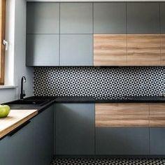 Best Ideas For Kitchen Decor Retro Dining Rooms Grey Kitchen Designs, Kitchen Room Design, Kitchen Sets, Modern Kitchen Design, Home Decor Kitchen, Interior Design Kitchen, Kitchen Furniture, New Kitchen, Home Kitchens