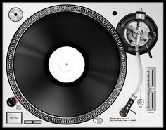 Technics SL-1200 top down view by johnnyinternets.deviantart.com on @deviantART