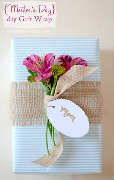 Mothers' Day Gift Wrap #diy #simple