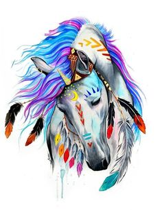 Diamond Painting is taking the crafting world by storm. Get our diamond painting kit and learn how to master the hottest . Horse Drawings, Art Drawings, Arte Equina, Indian Horses, Unicorn Art, Unicorn Painting, Unicorn Drawing, Unicorn Fantasy, Cross Paintings