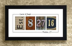 PERSONALIZED WEDDING GIFT for Couples  by AlphabetArtPhotos
