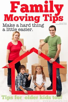 These family moving tips are ideas that will help your kids move with grace, and with you modeling good behavior to help them adjust.  It's hard, but an open mind helps! #lifeafterlondon #movinghouse