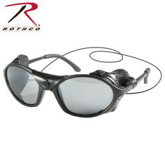 Rothco Tactical Sunglass/The Rothco Tactical Sunglasses with Wind Guards are sunglasses with side wind guards. The lenses are anti-fog, anti-scratch have UV400 protection and are smoked.