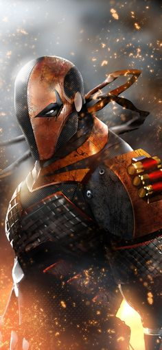 Deathstroke New Arts Iphone XS,Iphone X HD Wallpapers, Images, Backgrounds, Photos and Pictures Comic Book Characters, Comic Book Heroes, Comic Character, Comic Books Art, Comic Art, Deathstroke Comics, Military Drawings, Manga Anime One Piece, Batman Universe