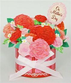 Magnificent Flower Bouquet Sensation Mother's Day Pop Up Greeting Card