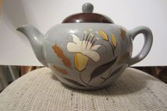 STANGL POTTERY TEAPOT GOLDEN HARVEST PATTERN VINTAGE POTTERY LILLY TEAPOT 1950s Awesome Teapot!  Please RePinit and Thanks!