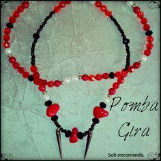 Pombagira = ônix — ágata, vermelho e dourado.