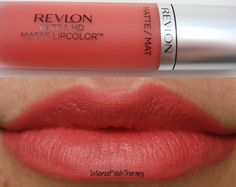 Revlon Ultra HD Matte Lipcolor in Flirtation. A velvety coral melon shade that looks gorgeous on many skin tones.