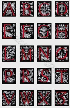 Celtic alphabet- letters cross stitch pattern | Yiotas XStitch