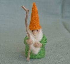 Needle Felted House Wizard