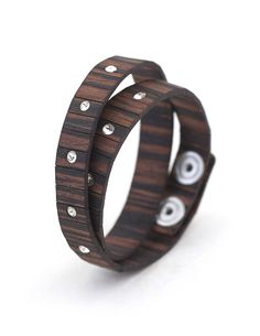 CHIC MAKASSAR EBONY  #bracelet #fashion #woodbracelet #wood #design #madeinitaly