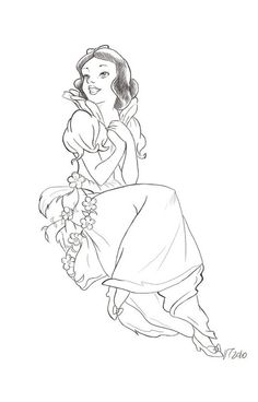 A Snow White Commission sketch Waiting to be colored ! Snow White (c) Disney Snow White sketch Princess Illustration, Disney Illustration, Illustration Sketches, Disney Princess Snow White, Disney Princess Art, Disney Fan Art, Disney Princesses, Disney Pixar, Disney Movie Characters
