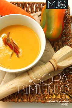 Chili and Carrot Soup! (#130) #pimientos #butter #carrot #soups