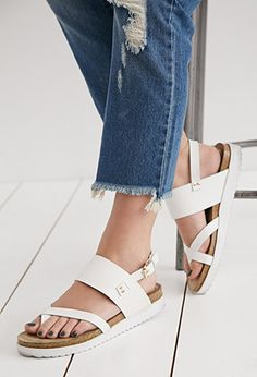 N.Y.L.A. Crisscross Toe Sandals   Forever 21 - 2002247158
