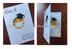 Creating a cute card during Covid-19 Pandemic for the Graduates Personalized Cards, Graduation Cards, Cute Cards, Personalised Cards, Pretty Cards