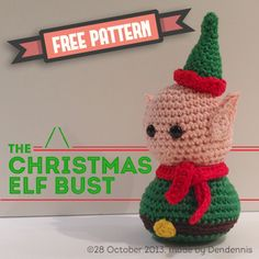Free pattern - The Christmas Elf Bust By Dendennis