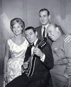 The Joey Bishop Show -- Co-staring Abby Dalton, Corbett Monica (tall guy in the back) and Joe Besser Joe Besser, Joey Bishop, Old Celebrities, Old Shows, Comedy Series, Dean Martin, Tall Guys, Old Tv, Classic Tv