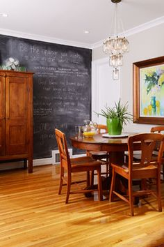 Chalkboard walls are great to have in a home as they can be used for so many reasons, both functional and great to look at! How to make a chalkboard wall