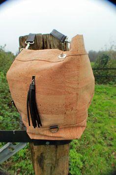 Cowboysbag kurk.  Mooie handgemaakte kurktas van duurzaam kurk.  $ 94,27
