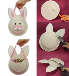 Easter Kids Crafts Ideas - Easter Bunny Crafts for Kids - Easter Chick Crafts for Kids Art Activities For Kids, Bunny Crafts, Easter Activities, Easter Crafts For Kids, Preschool Crafts, Art For Kids, Children Crafts, Art Children, Easter Ideas