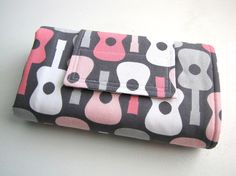 Diaper Changing Pad Roll Up  Groovy Guitar Bloom  Made by modmomME, $24.00