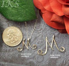 Personalized Script Style Sterling Silver by JewelryCustomDesigns, $54.99