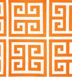 fabric - Greek Squares in Orange.