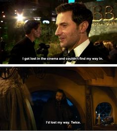 'Thorin - Richard Armitage. Basically the same person.' > both are lost. << lol