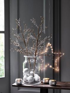 Sparkle Berry Branch - Have the perfect Christmas with the perfect decorations for your home. Recreate the magic of Christmas at home with these amazing Christmas decorations. Click the link and have a look here to start decorating! Christmas Bedroom, Christmas Fireplace, Farmhouse Christmas Decor, Rustic Christmas, Christmas Home, Christmas Ideas, Xmas, Ikea Inspiration, Christmas Branches