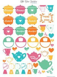 This printable meal sticker sheet is part of the terrific Hello Spring bundle. 150 different products included for $23 Planner, planner lover, planner goodies, planner stickers, printable planner, printable stickers, planner addict, planning life, girly things, gift for myself, decor, decorating, printables, printable home decor, floral, wall art, colorful, spring printables, spring planner, hello spring, erin condren planner stickers, happyplanner, happy planner, filofax stickers