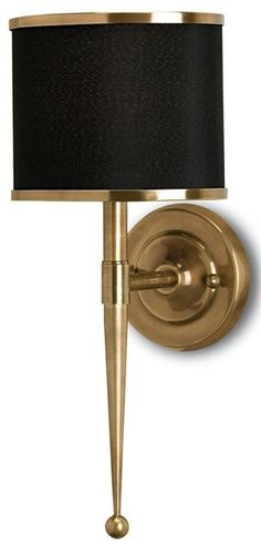 for a traditional or art deco home theater Primo Wall Sconce | Currey and Company