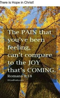 Romans 8:18 I really need to remember this right now in my life with the situation I find myself in