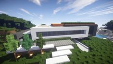 Allure contemporary home minecrft house building pool beautiful 3