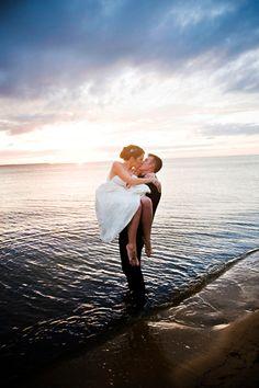 Sunset weddings on Hatteras Island!